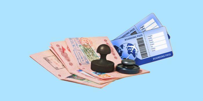 билет для визы